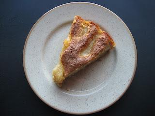 Tarta de almendra y pera, receta