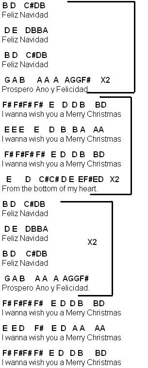 Flute Sheet Music: Feliz Navidad