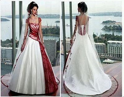 vestidos novia blanco y rojo – vestidos de boda