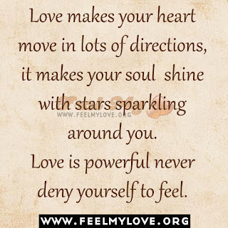 Love makes your heart move in lots of directions