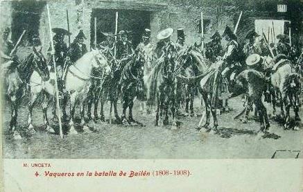 LOS GARROCHISTAS DE BAILEN O LANCEROS DE JEREZ. 1808