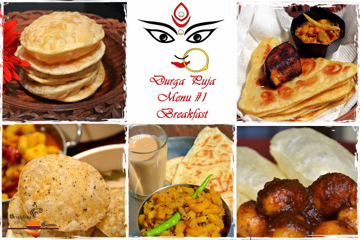 Durga pujor bhuribhoj bengali festival food menu roundup bengali festival breakfast dhakai porota video recipe forumfinder Choice Image