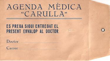 """Agenda Mèdica """"Carulla"""""""