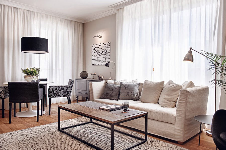 black and white living room design | living room ideas