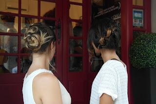 Exemples de coiffures réalisées par Eddy et Kalyce pour l'atelier coiffure Birchbox.