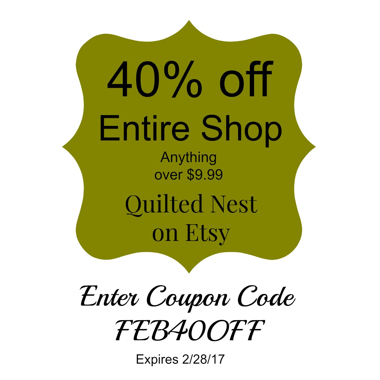 Etsy Shop Sale