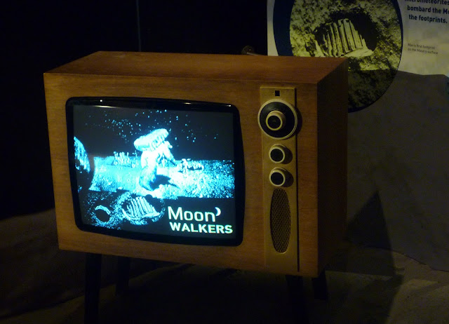 moon walkers old television at leicester space centre via lovebirds vintage