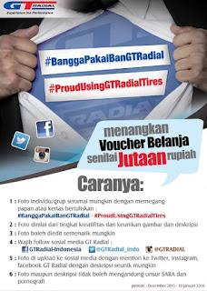 Lomba Foto Bangga Pakai  Ban GT Radial Berhadiah Voucher Belanja