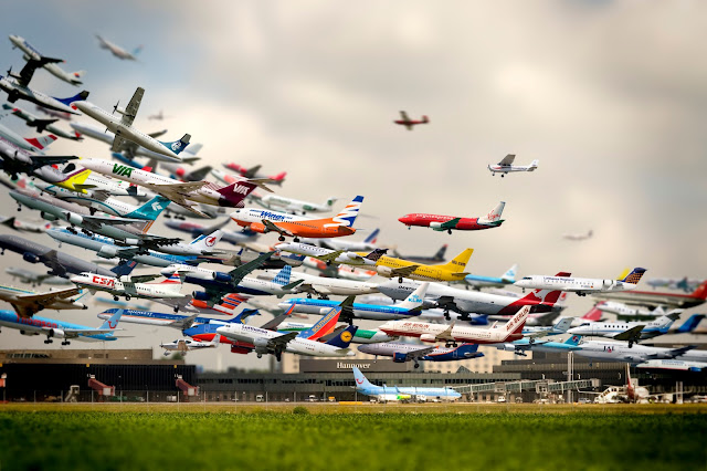 time lapse airplane, airport, cool planes