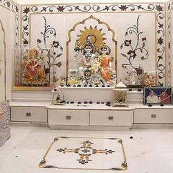 Sweet home pooja room for Home mandir designs marble