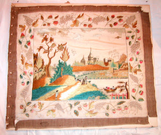 textile conservation of historic samplers and embroideries, repair, restoration, antique