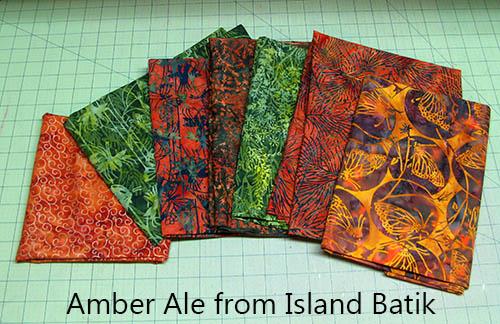 Amber Ale Batiks by Island Batik