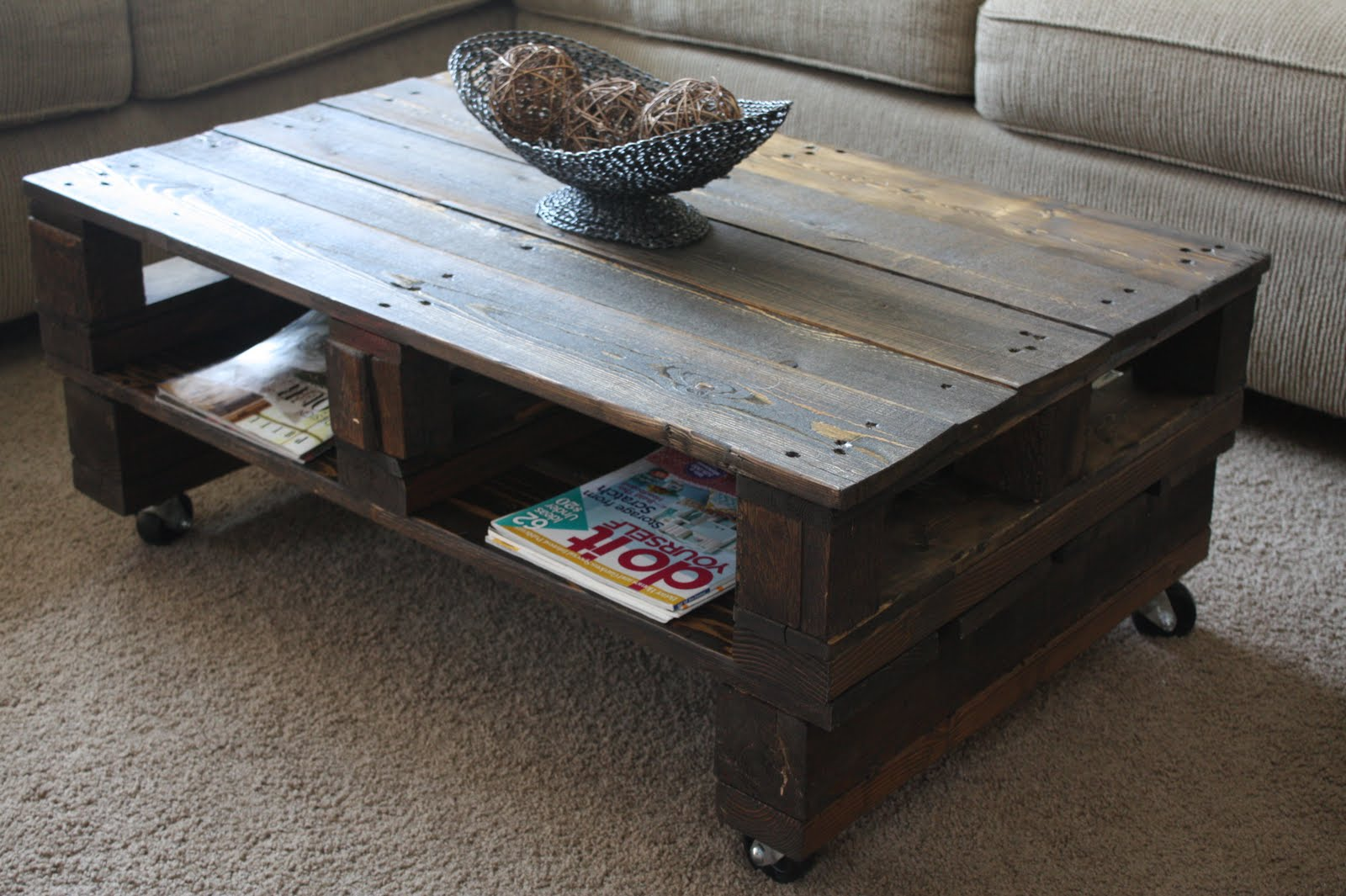 Pallet furniture coffee table - Pallet Coffee Tables Big Sq Espresso Table