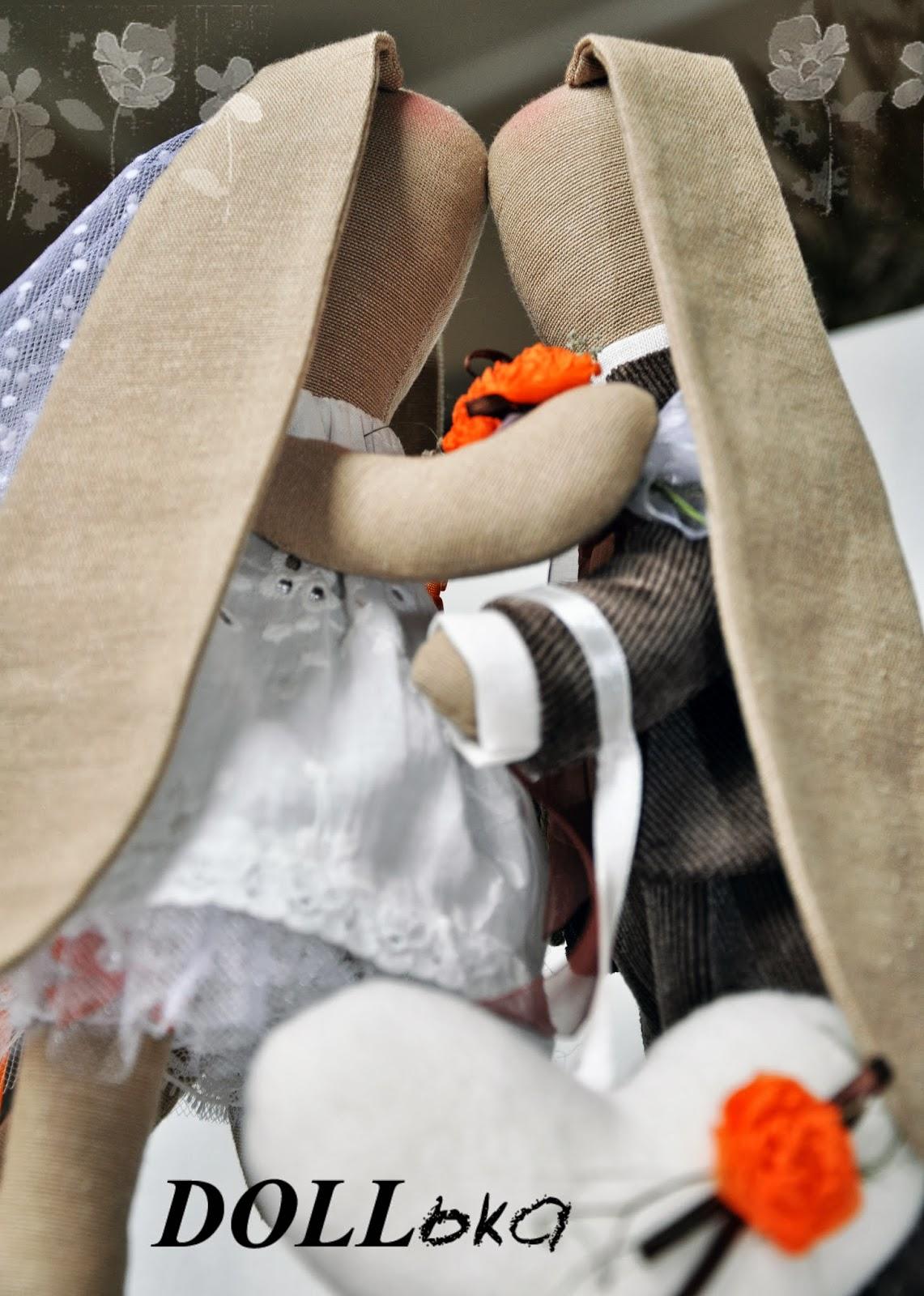 свадебные зайки тильда ручная работа