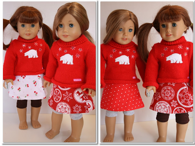 "Free Doll Clothes Pattern to make an adorable reversible wrap skirt for you American Girl or 18"" doll from #RealCoake #AmericanGirl #Sewing"