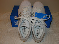 adidas superstar II - white with silver