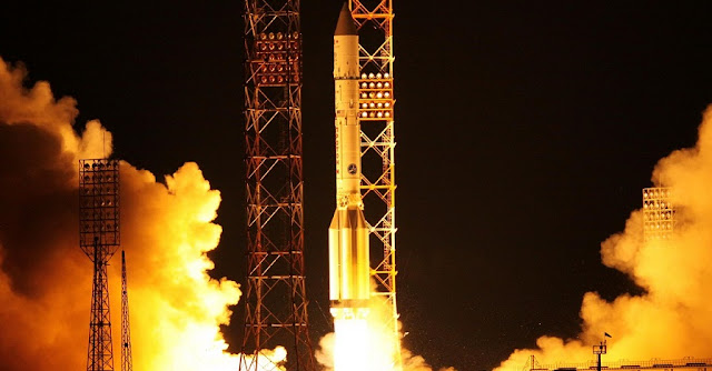 Proton-M launch of Türksat-4B on Oct. 16, 2015. Photo Credit: Roscosmos