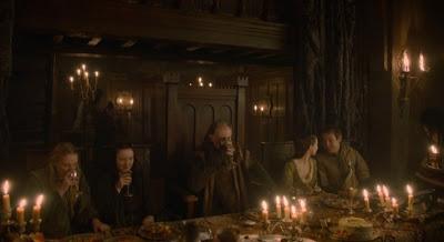 mesa principal boda roja - Juego de Tronos en los siete reinos