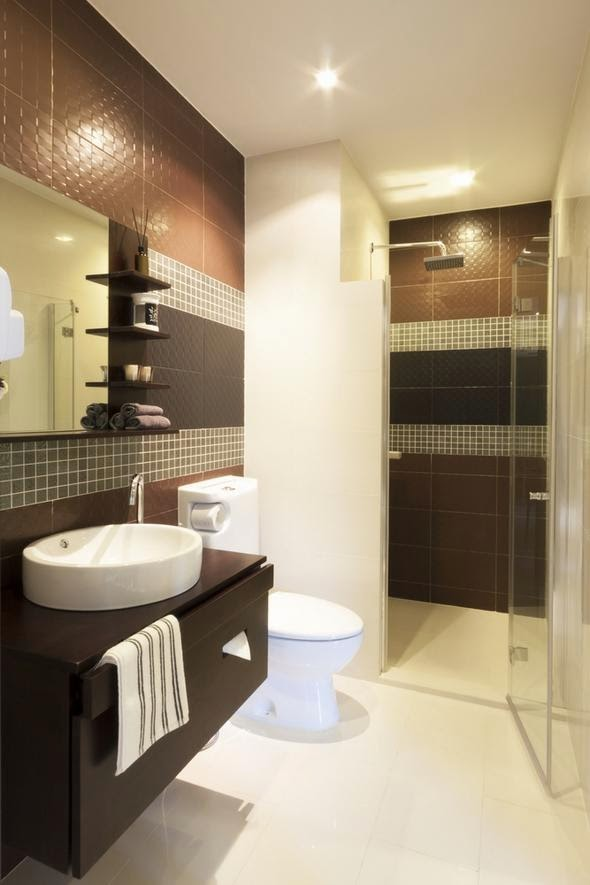 Baños Elegantes Para Casa: pero bien dispuesto y separado para que no haya problema de uso