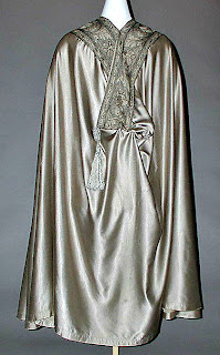 Hooded opera cloak-back view