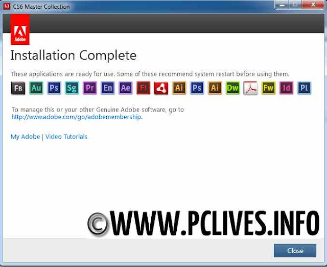 Adobe Creative Suite CS6 Master Collection installation instructions 7