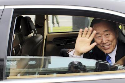 SG da ONU, Ban Ki-moon, chegou a Luanda para visita oficial de 36 horas