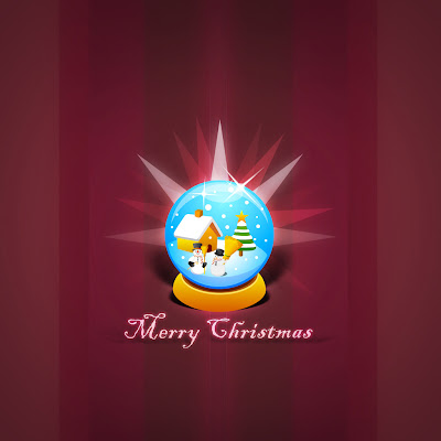 Christmas Globe download free wallpapers for Apple iPad