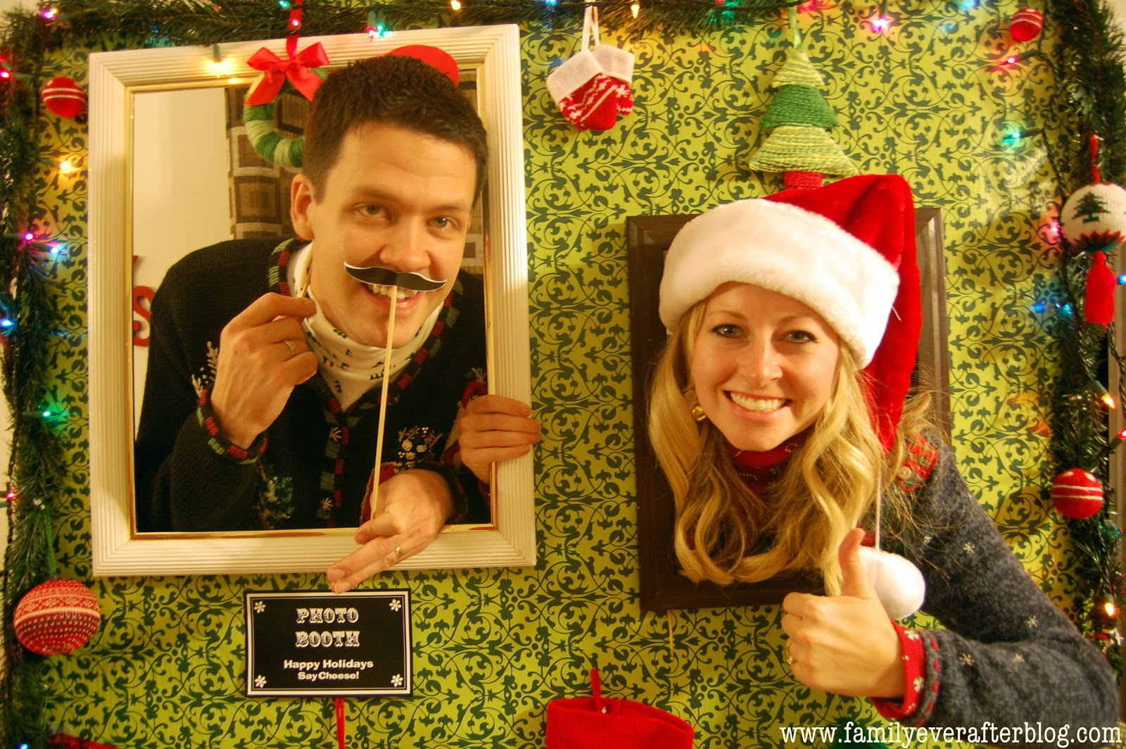 Ugly Christmas Party Ideas Part - 28: {Ugly Sweater Party Ideas} How To Build A Photo Booth