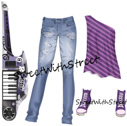 Sweet With Street: Free Justin Bieber Keyboard Guitar + Outfit