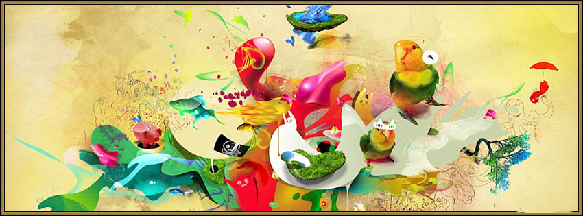 Colored Animals Frame