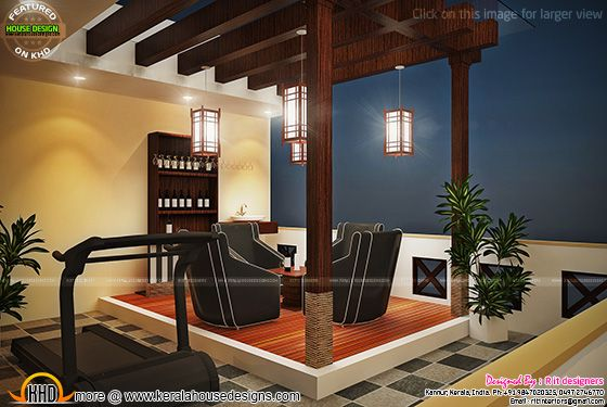 Kerala bungalow design keralahousedesigns for Terrace 6 indore