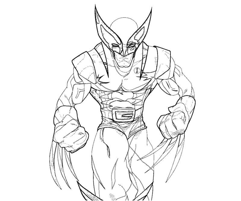#3 Wolverine Coloring Page