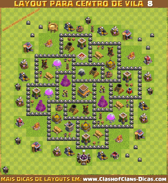 layouts de centro de vila 8 para clash of clans