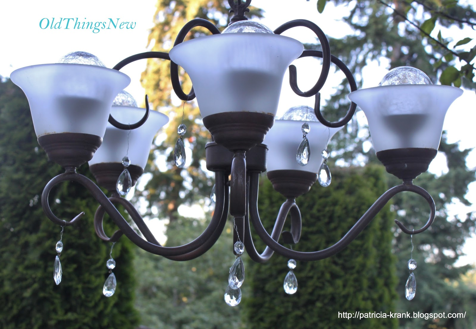 Old Things New A Solar Garden Chandy – Solar Chandelier Outdoor