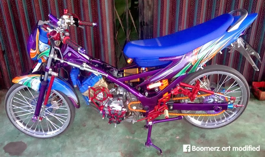 modifikasi satria f 150 cc