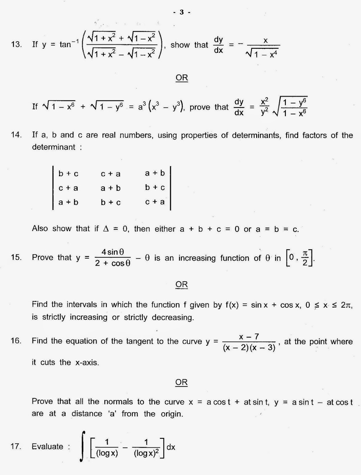 Maths Class X Cbse Sample Paper   CBSE Sample Papers For Class