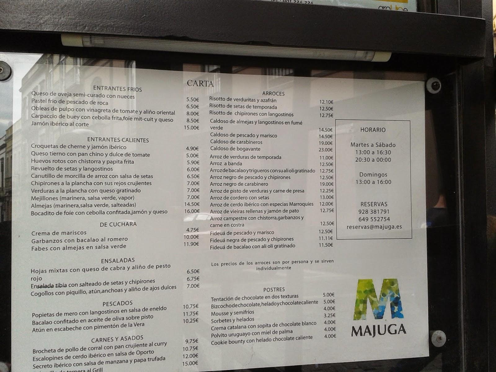 Majuga restaurant review, Las Palmas de Gran Canaria