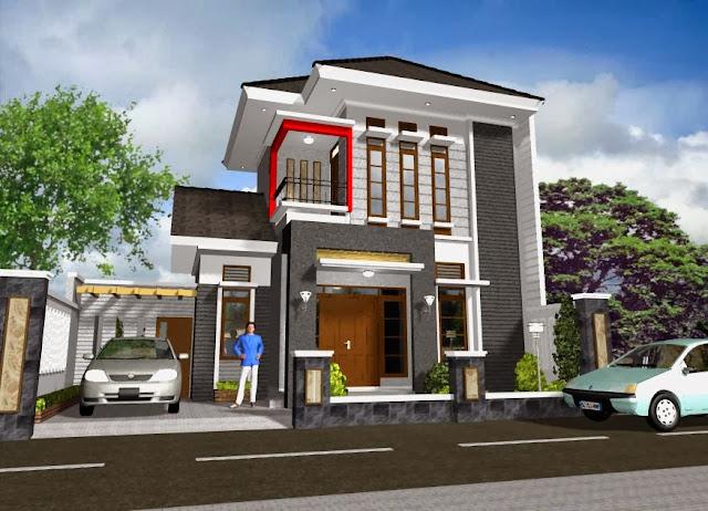 Gambar Model Rumah Bertingkat Minimalis Modern