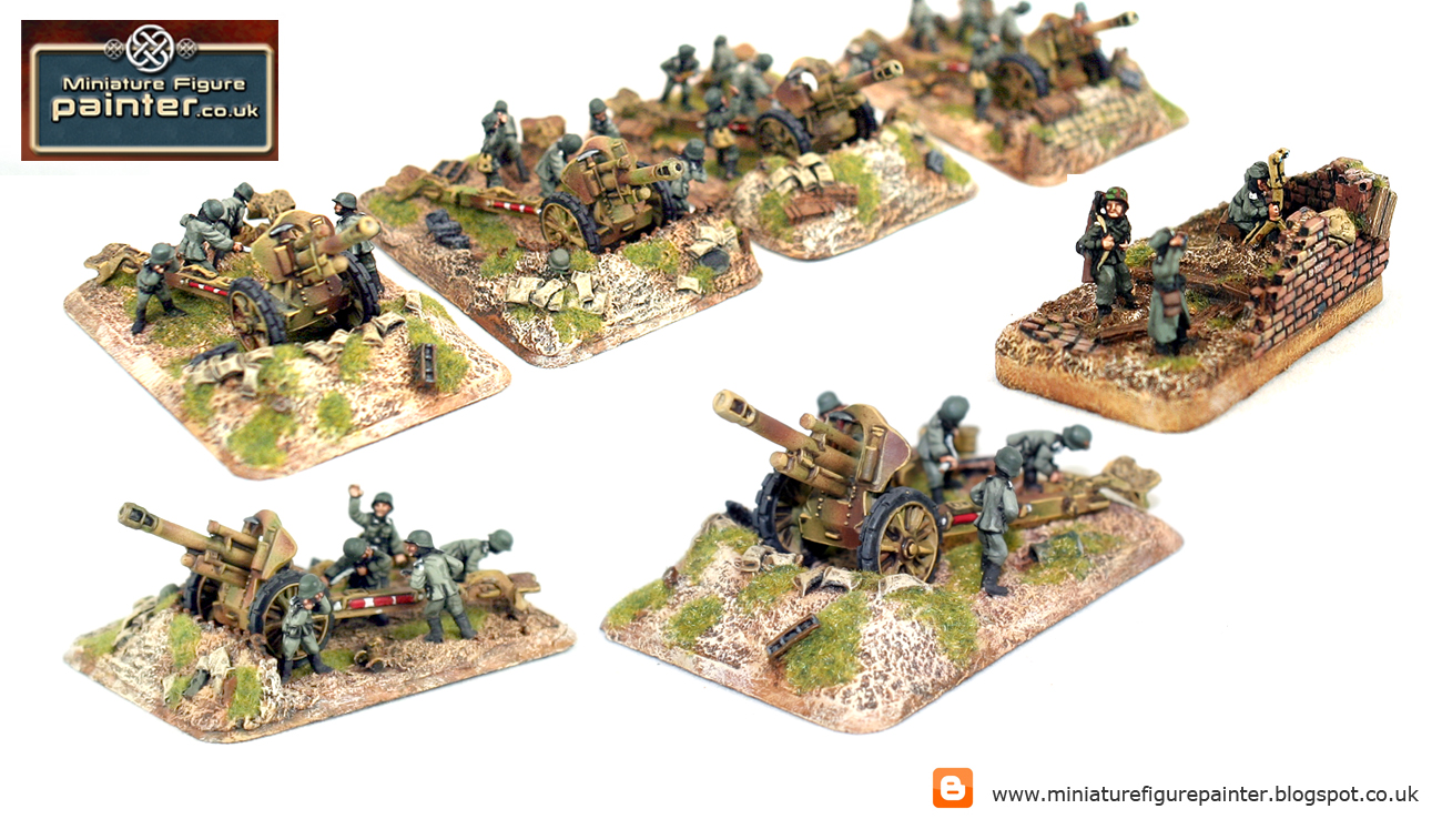 Painted ww2 15mm figures,