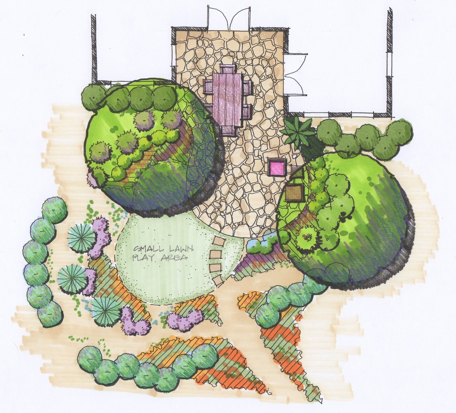 Xeriscape garden design ideas home ideas modern home for Garden design sketches