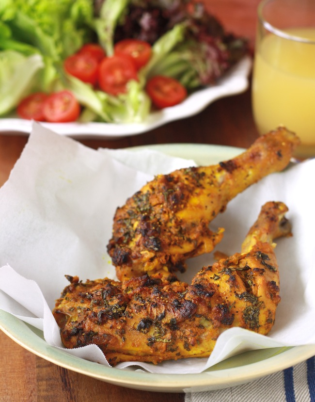 Chermoula Spiced Roasted Chicken recipe by SeasonWithSpice.com