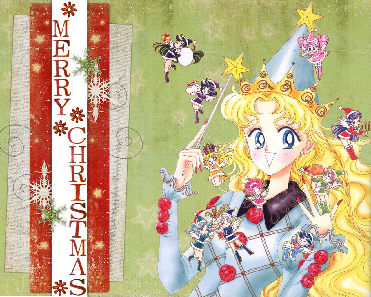 merry christmas by sailor moon serena
