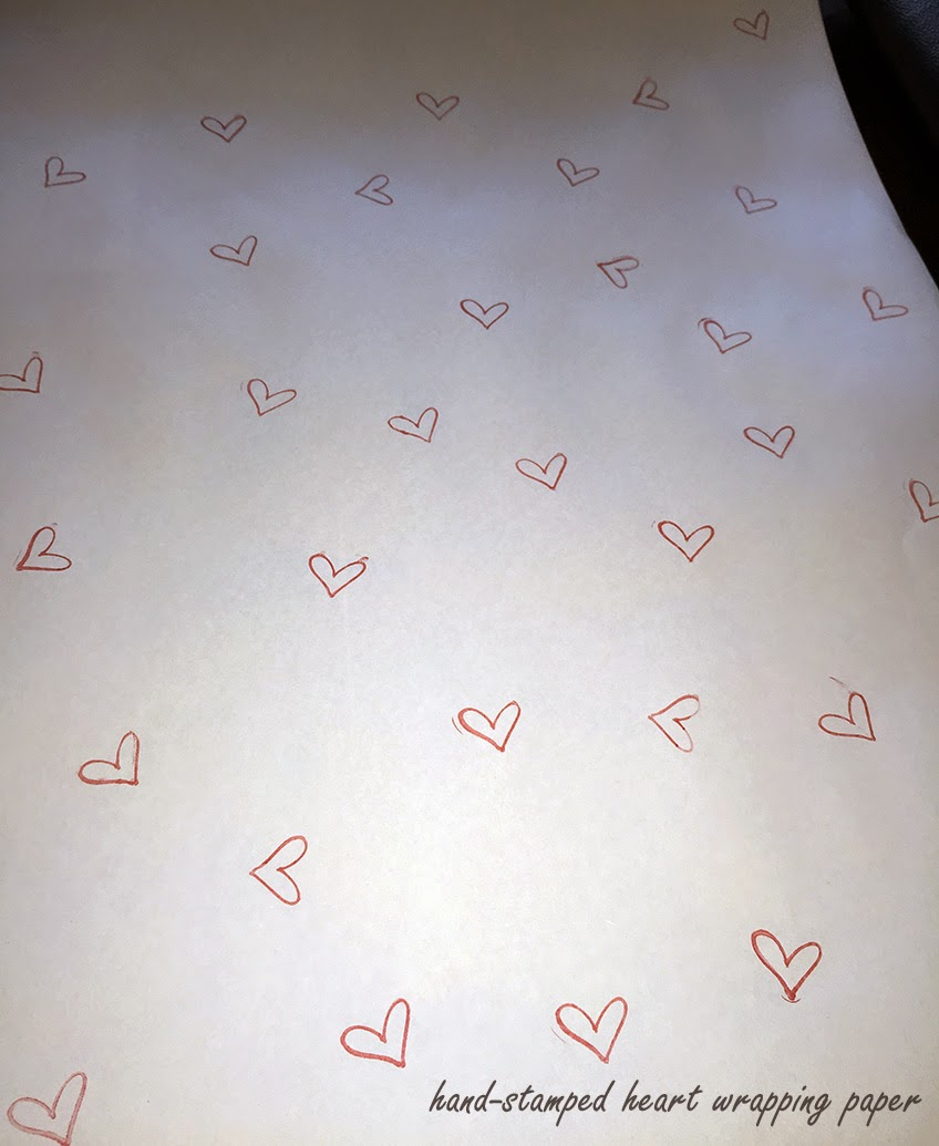 heart stamped wrapping paper DIY-Cordier Events
