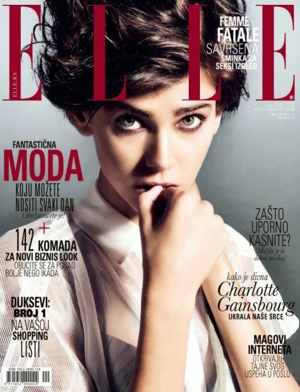 Amra Cerkezovic by Marko Vulevic for Elle Magazine, Serbia, October 2014