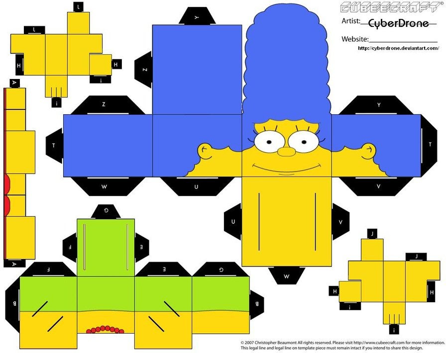 Papercraft Marge Simpson