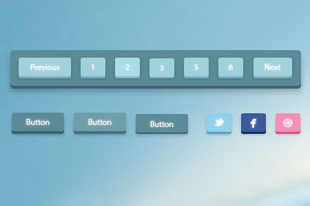 Free Page Navigation PSD Designs
