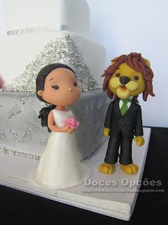 bolo casamento noivos leão bragança