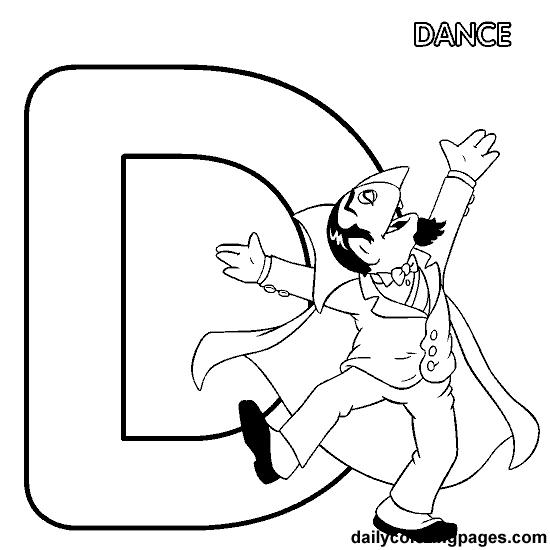 Sesame Street Letter D Coloring Page