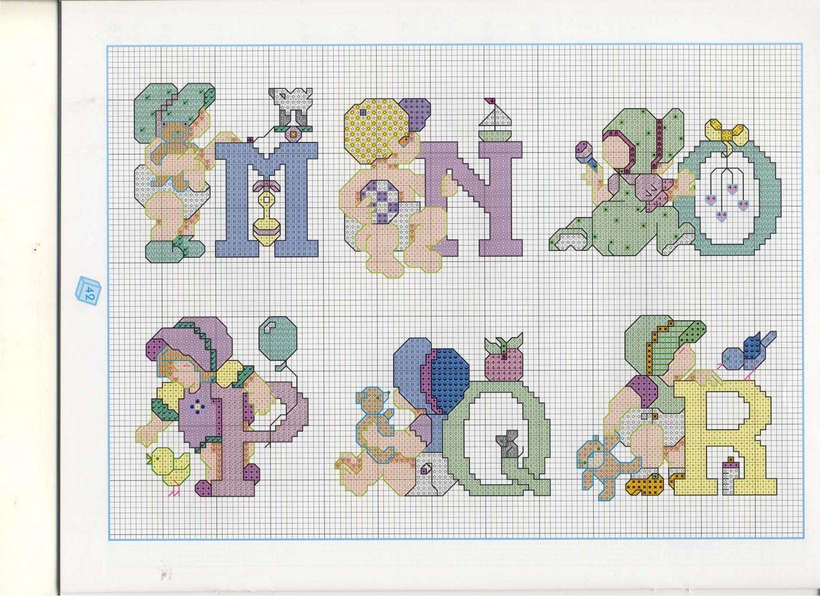 Латинский алфавит для вышивки