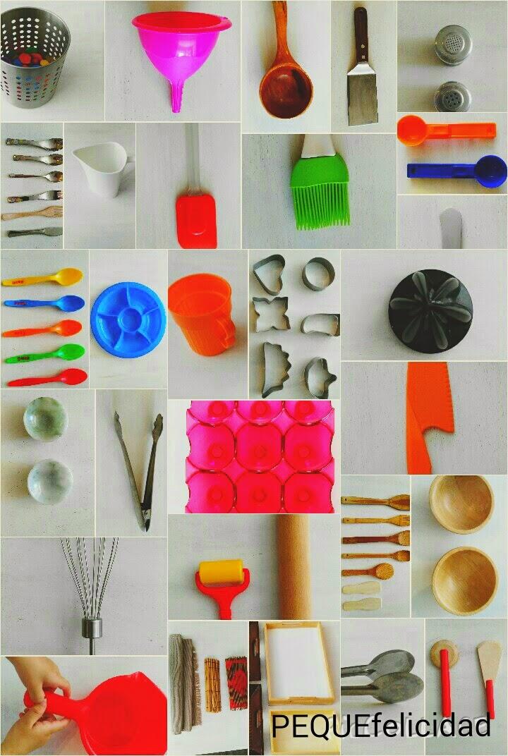pequefelicidad 40 utensilios de cocina para aplicar